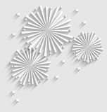 Firework for Holiday Celebration Events, Flat Style Long Shadow Stock Images