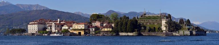 Fischerdorf Isola-dei Pescatori auf See Maggiore Lizenzfreies Stockfoto