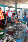 Fischmarkt in Asien Stockfotos