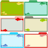 Fish recipe cards Stock Images