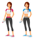 Fit young woman in sportswear Stock Images