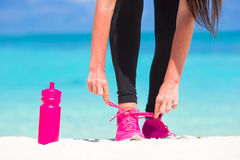 Fitness and healthy lifestyle concept with female Stock Photos
