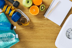Fitness and weight loss Royalty Free Stock Image
