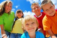 Five Happy Kids Stock Image