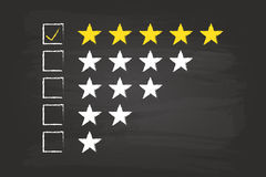 Five Star Feedback Royalty Free Stock Photo