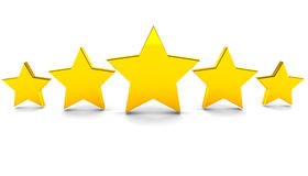 Five stars Royalty Free Stock Images