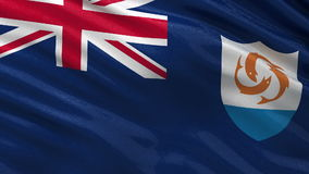 Flag of Anguilla seamless loop stock video