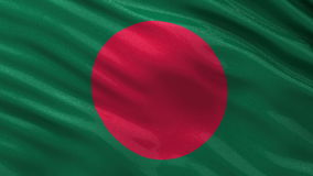Flag of Bangladesh seamless loop stock footage