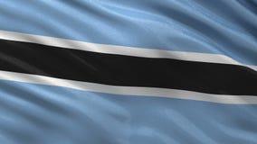 Flag of Botswana seamless loop stock video