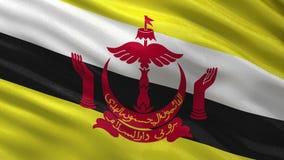 Flag of Brunei seamless loop stock video