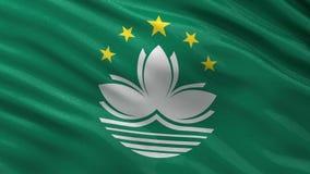 Flag of Macau seamless loop stock video