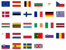 Flags of the European Union Stock Photos