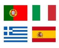 Flags of the PIGS Royalty Free Stock Photography