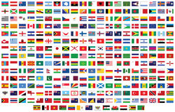Flags of the world Royalty Free Stock Photography