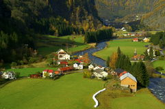 Flam Valley Norway Stock Image