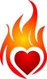 Flame heart Royalty Free Stock Photos