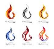 Flame logo design Royalty Free Stock Image