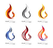 Flamme Logo Design Lizenzfreies Stockbild