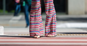 Flare Pants Stock Image