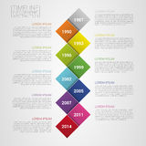 Flat colorful abstract timeline infographics vector illustration Stock Image