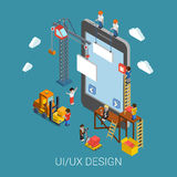 Flat 3d isometric UI/UX design web infographic concept Royalty Free Stock Photography