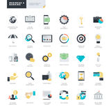 Flat design business and banking icons for graphic and web designers Stock Image