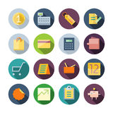Flat Design Icons For Business and Retail Stock Photography