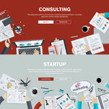 Flat design illustration concepts for business consulting and startup Stock Images