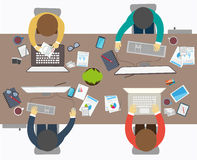 Flat design style of business meeting, office worker Royalty Free Stock Image