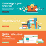 Flat design vector illustration concepts for online education Stock Photography