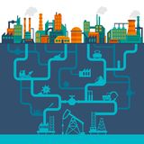 Flat industry background Royalty Free Stock Image