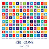 Vector flat style web icons Stock Photo