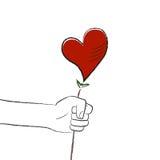 Fleur de coeur Images libres de droits