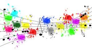 Flippiger Musik-Hintergrund Lizenzfreies Stockbild
