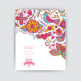 Floral banner for life events, vector. Greeting floral card. Pla Stock Images