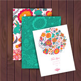 Floral banner for life events, vector. Greeting floral card. Pla Royalty Free Stock Photography