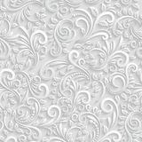 Floral 3d Seamless Background Royalty Free Stock Photo