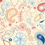 Floral pattern with paisley Royalty Free Stock Photography