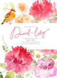 Floral watercolor background with beautiful flowers Stock Photography