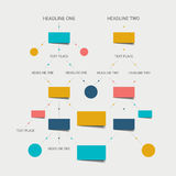 Flow chart scheme. Infographics elements. Royalty Free Stock Photo