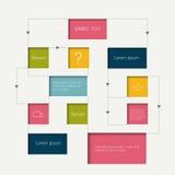 Flow chart scheme. Infographics elements. Stock Photo