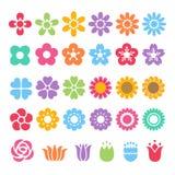 Flower decorative set Stock Images