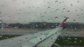 Flugzeug-Regenansicht Stockbild