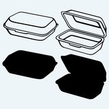 Foam meal box Stock Image