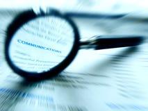 Focus on communications Stock Photos