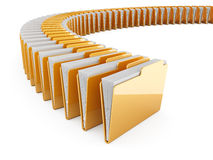 Folder row Royalty Free Stock Images