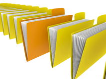 Folders in row Royalty Free Stock Images