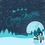 Fond de Noël de Milou Photo libre de droits