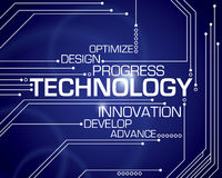 Fond de Word de technologie Images libres de droits