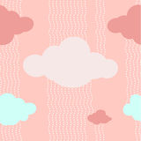 Fond rose de modèle de nuages Images libres de droits